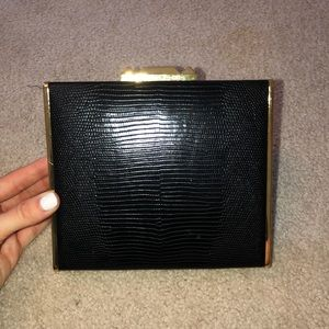 BGBG Black & Gold Clutch